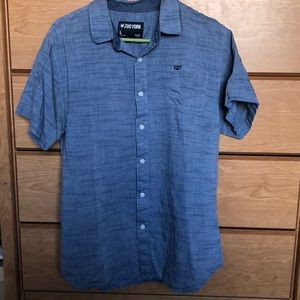 Zoo York Large Blue Button Down Short Sleeve